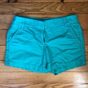 "J. Crew 4"" Chino Short, Teal, Size 8"